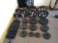 Gym Weights and bench set