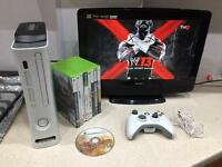 Xbox 360 120GB, 9X games, 1 x controller, HD LCD TV 19""