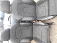 AUDI S LINE FRONT SEATS - 1/2 LEATHER - VOLKSWAGEN T4 / T5 ETC