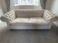 2 x fabric chesterfield Sofas