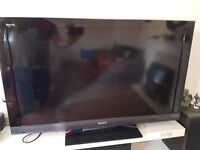 """Sony Bravia 40"""" HD TV built in freeview"""