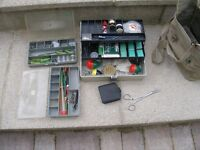 Assorted fishing box with loads of hooks