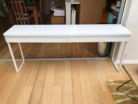 Long white side table/desk