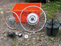 """2 new electric bike motor wheels with battery switch charger/ballast etc. 26"""" 20"""""""