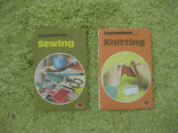 Ladybird Learnabout Sewing and Learnabout Knitting books