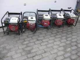 Honda GX generators from 2 to 6 KVA for export