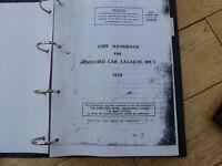 Handbook for a Saladin APC