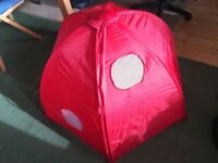 IKEA play tent - ladybug inspired design - good condition - folds easy