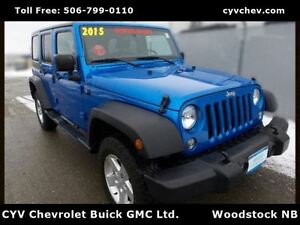 2015 Jeep WRANGLER UNLIMITED Sport 4 Door Auto - 2 Tops - Wrangl