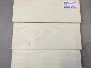 Revêtement extérieur en bois déclin 1 x 6 - Blanc