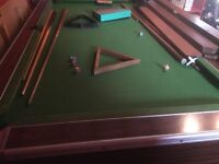 FREE, Full size pub pool table, free to uplift