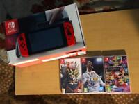 NINTENDO SWITCH CONSOLE WITH GAMES (OPEN TO OFFERS)