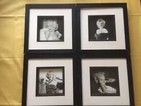 Marilyn Monroe 4 Black & White 3D Pictures