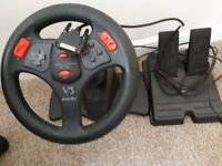 COMPUTER V3 INTERACT STEERING WHEEL AND FOOT PEDALS