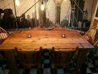 6ft rustic kitchen table