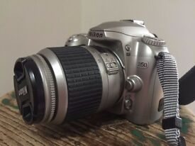 Great First Camera D50 with 18/55MM +camera bag