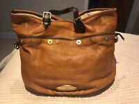Mulberry tan handbag, good condition.