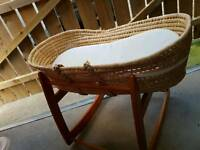 Rocking moses basket & cradle
