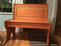 Church pew with storage