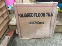 Polished floor tiles