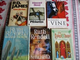 books lot of 6 second hand mystery books