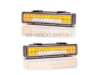2 x LED VORDERE BLINKLICHTER + POSITIONSLICHT - 12 / 24V  146,5x32,8 mm - 30 LED
