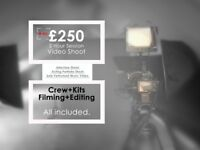 Studio Video Shoot, kits and crew included. FREE editing!!!