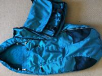 Quinny blue footmuff and changing bag