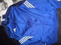 mens adidas tracksuit royal blue and navy. exc condition, size large