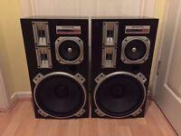 Vintage Kenwood LSK-717 4-way 4-driver 180w speakers.