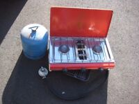 Camping Stove with grill and full size stand.