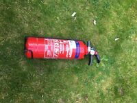 Fire extinguisher - full and current