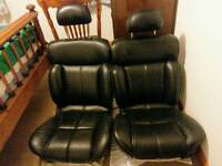 Ford Granada Black leather front seats