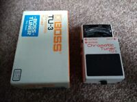 Boss Chromatic Tuner TU-3 Guitar Effect Pedal + Cable