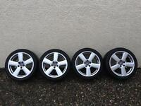Audi A4 A5 A6 genuine alloys with winter tyres