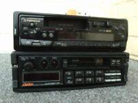 car radio cassettes clarion , pioneer