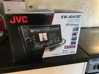JVC car radio and DVD player
