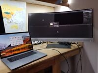 MacBook Pro 15 inch - Touch Bar With HP EliteDisplay S340c