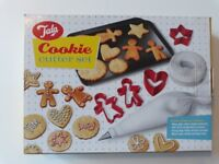 Unopened NEW - Tala Cookie Cutter Set - with 10 cutters, baking tray and icing bag with nozzle