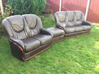 Rosini. Italian leather sofa suite. Immaculate free delivery