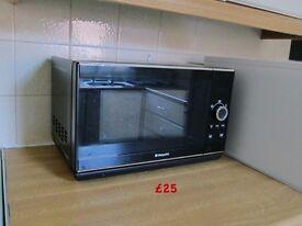 Black Hotpoint Microwave