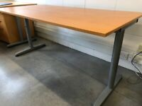 SOLD- awaiting collection. IKEA Galant desk with Beech top and T Legs 160cm x 80cm