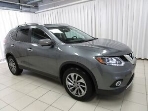 2015 Nissan Rogue SL AWD WITH LEATHER, SUNROOF, NAVIGATION AND S