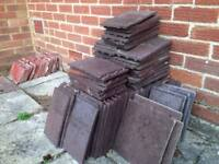 Roofing tiles x 147, suitable for porch roof and 1950's original terracotta window sill tiles