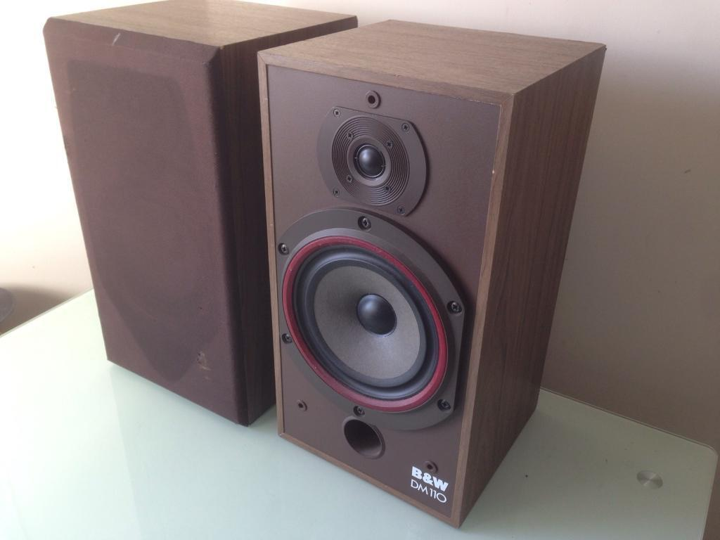 BW DM110 Vintage Hifi Bookshelf Speakers