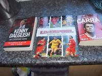 3 LIVERPOOL FC BOOKS £10 THE LOT