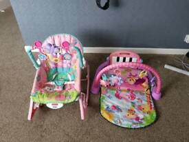 Fisherprice playmat and bouncer
