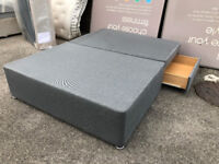 BRAND NEW DAMAGED Seconds, Charcoal Grey Divan Bed Base FREE DELIVERY
