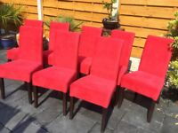 16 Available. Brand New Red Velvet Dining Chairs, £35 Each