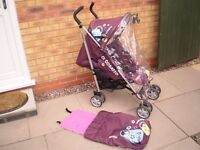 COSATTO BUGGY WITH COSY TOES AND RAIN COVER